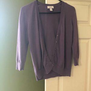 LOFT violet cardigan